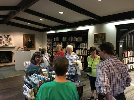 Post Art Library weaving demonstration