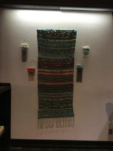 Weaving display at Post Art Library