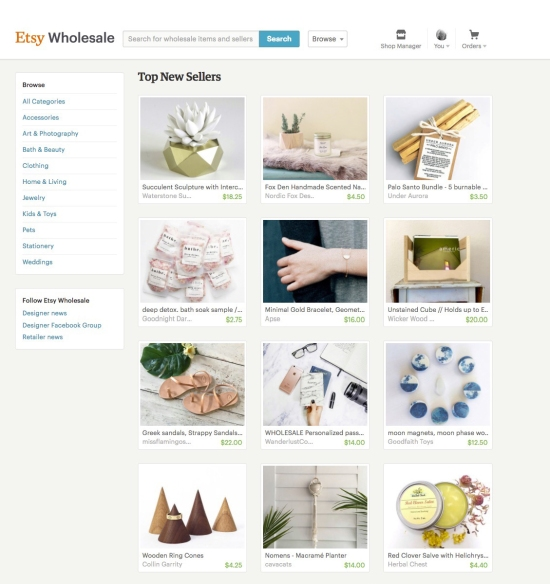 "CavaCats was listed in Etsy Wholesale ""Top New Sellers!'"